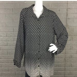 Catherines Womens Top Plus 0X 14/16W Button Down